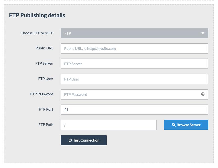 Bloxby - Site Settings modal