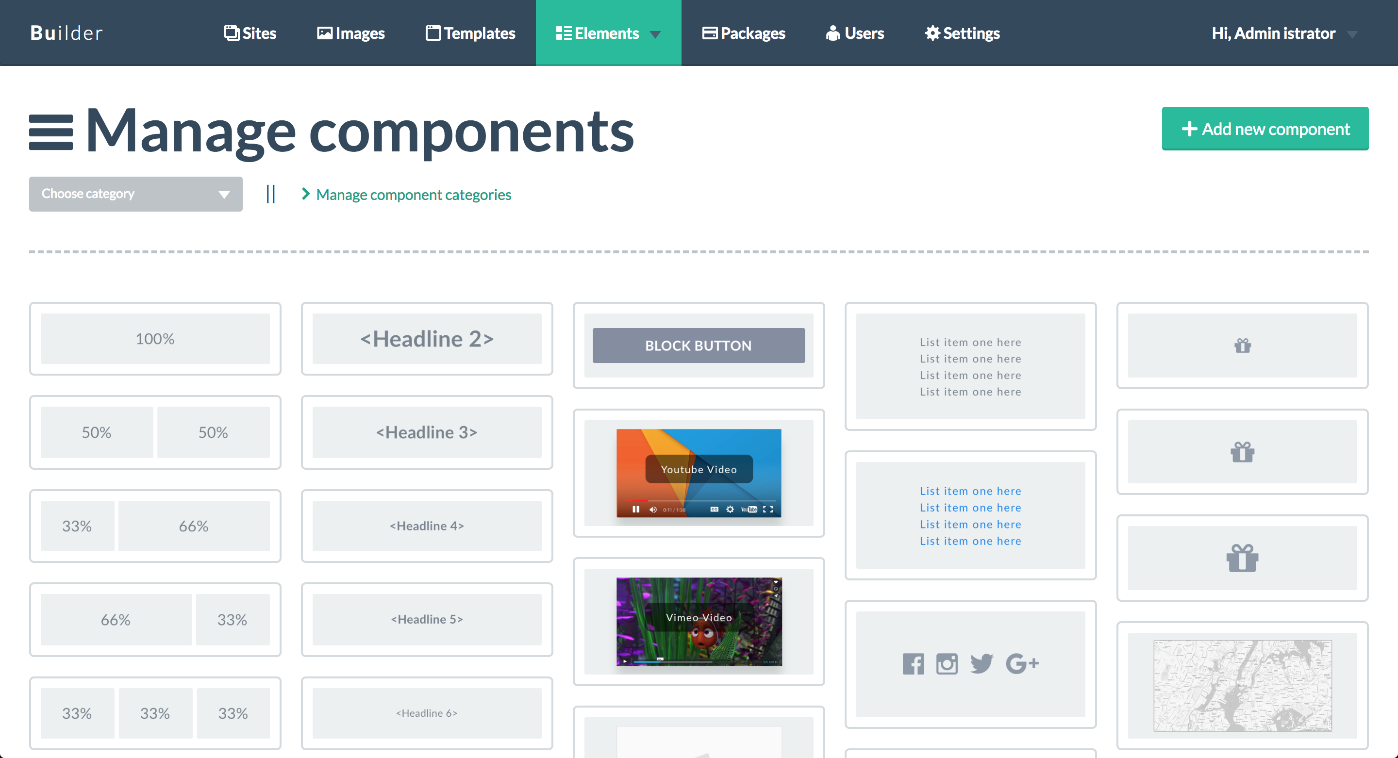 Bloxby Components Panel