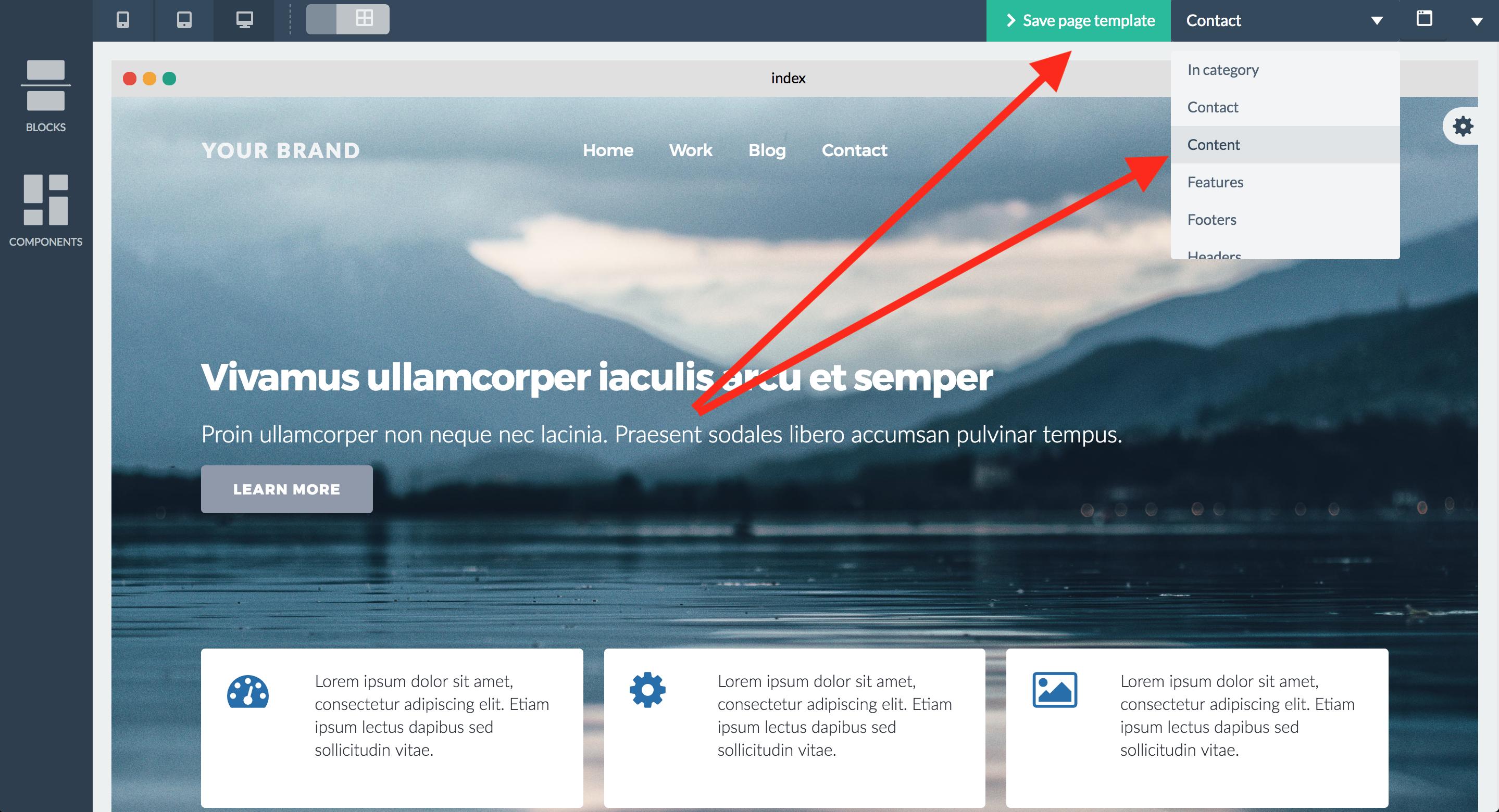 Bloxby Create Template